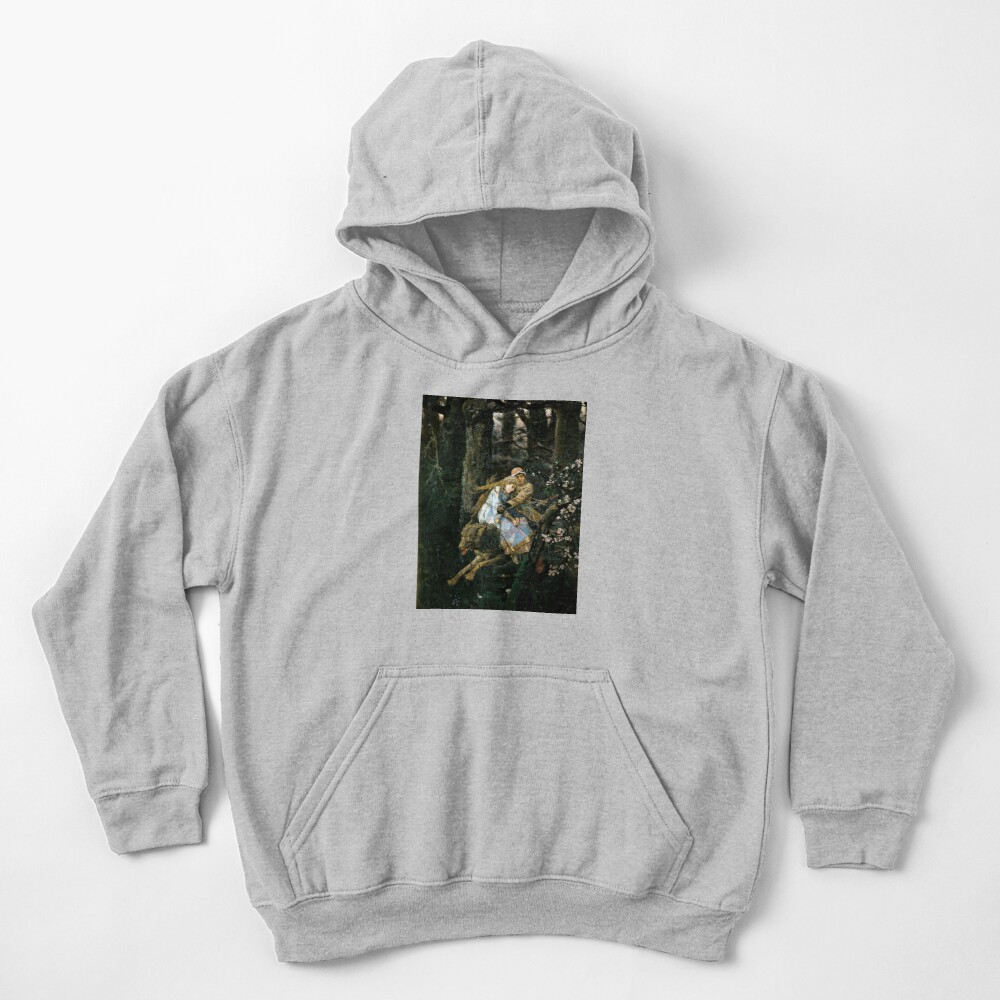 Ivan tsarevich riding the grey wolf Kids Pullover Hoodie