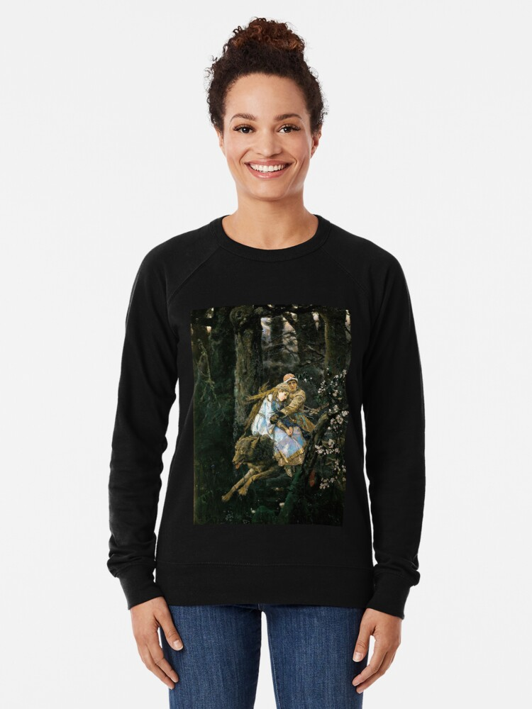 Alternate view of Ivan tsarevich riding the grey wolf Lightweight Sweatshirt