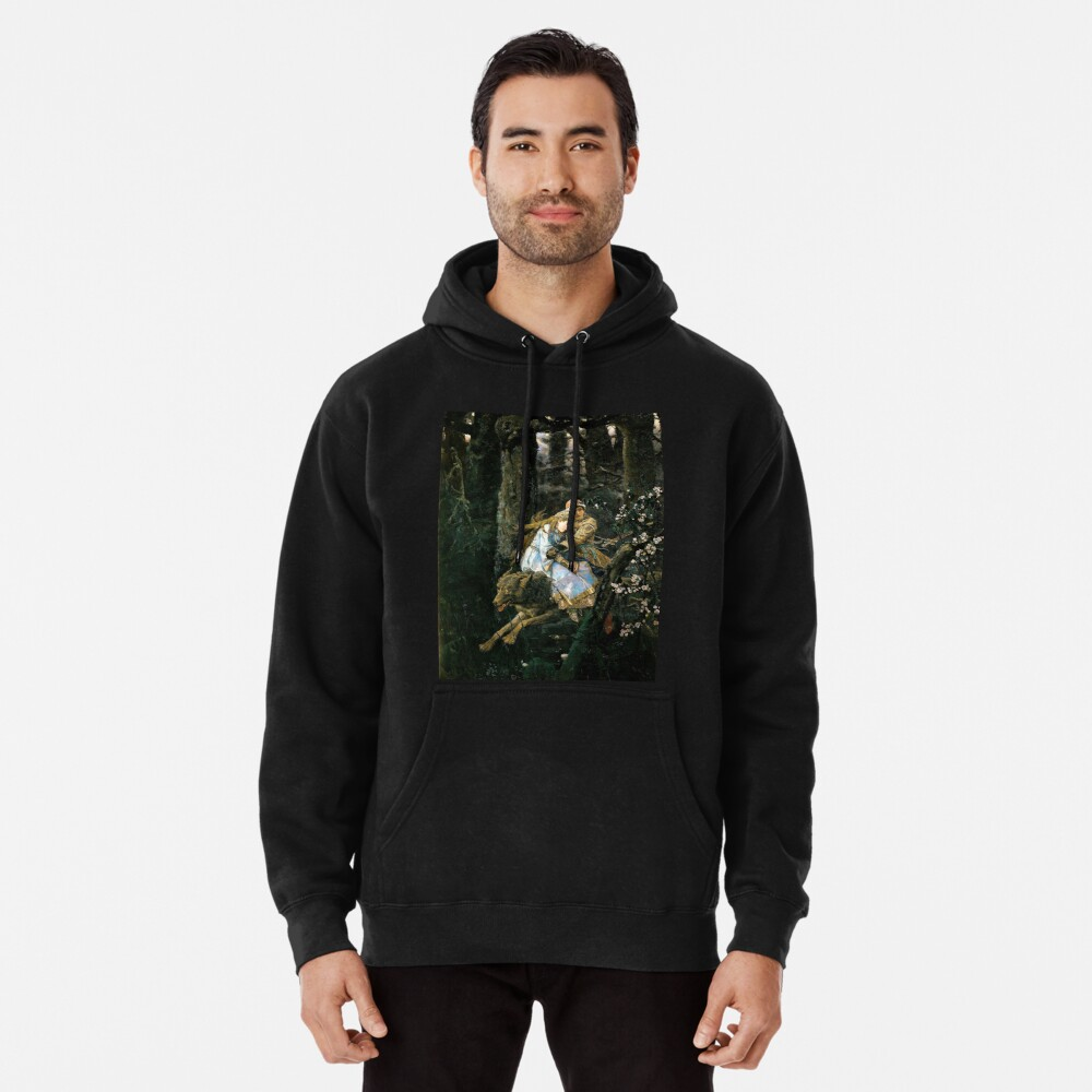 Ivan tsarevich riding the grey wolf Pullover Hoodie