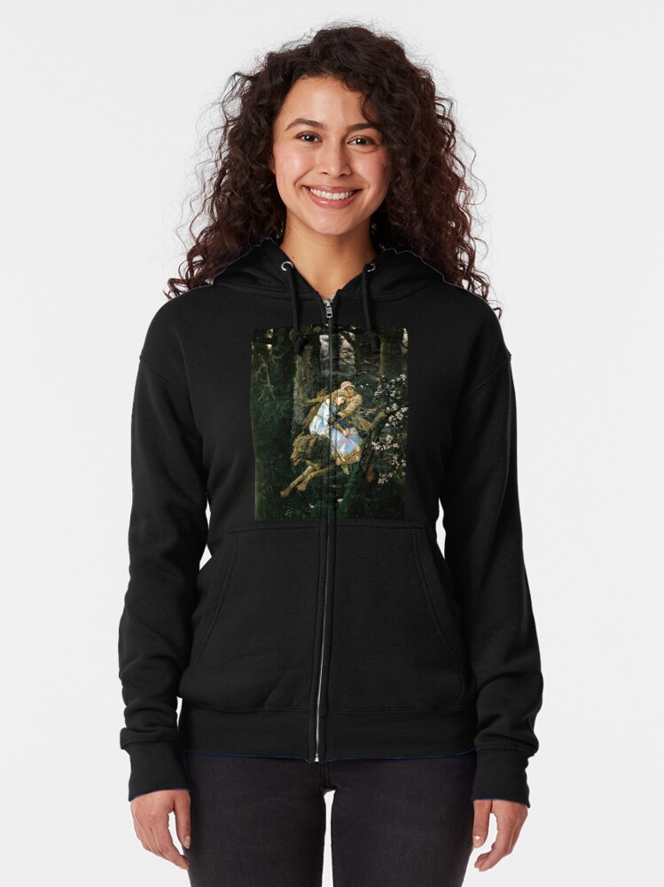 Alternate view of Ivan tsarevich riding the grey wolf Zipped Hoodie