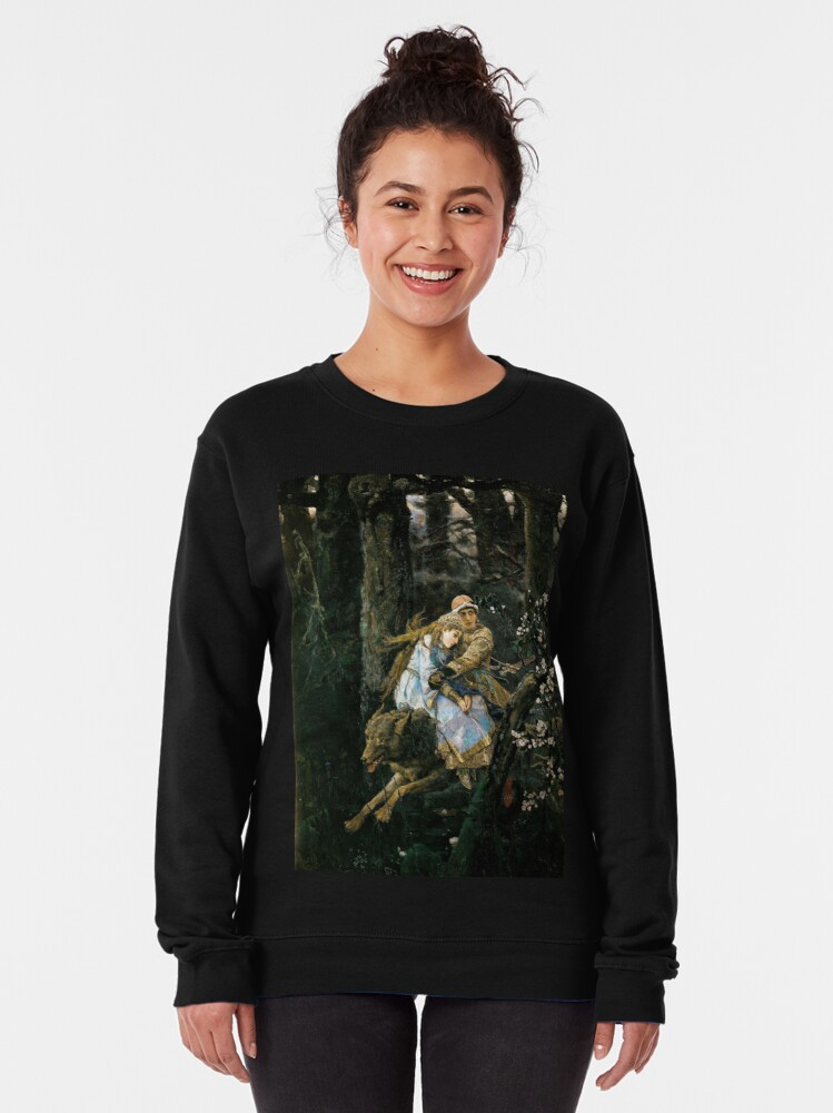 Alternate view of Ivan tsarevich riding the grey wolf Pullover Sweatshirt