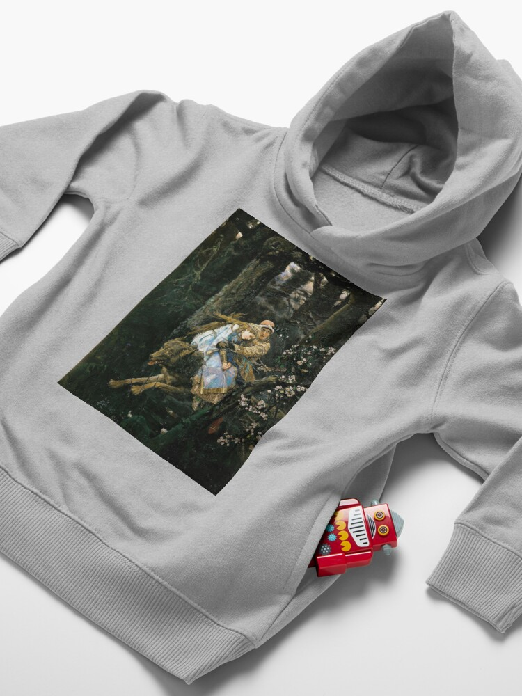 Alternate view of Ivan tsarevich riding the grey wolf Toddler Pullover Hoodie