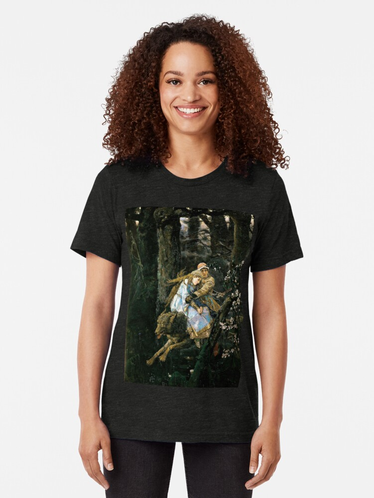 Alternate view of Ivan tsarevich riding the grey wolf Tri-blend T-Shirt