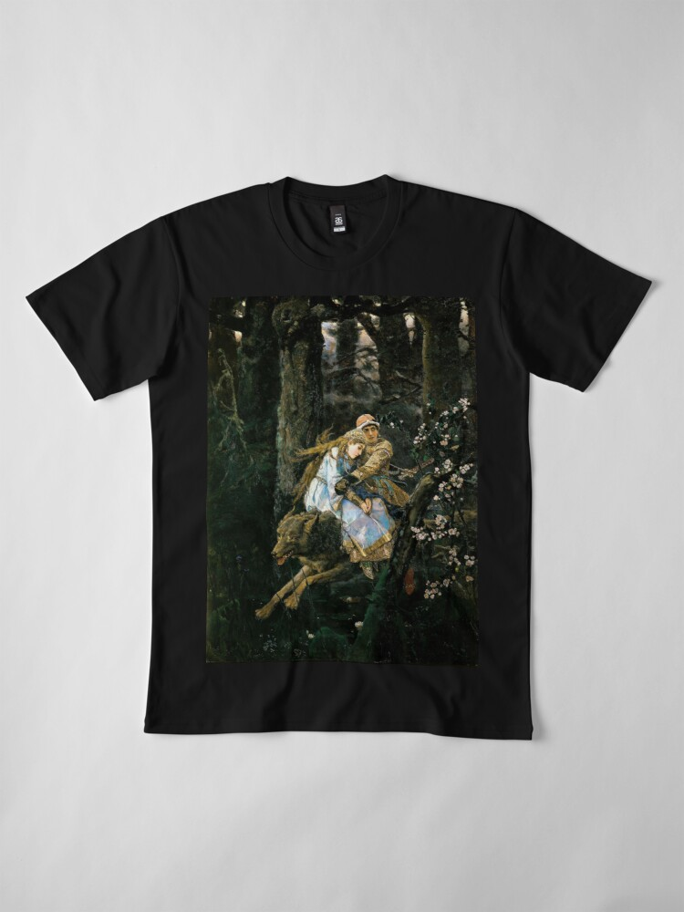 Alternate view of Ivan tsarevich riding the grey wolf Premium T-Shirt