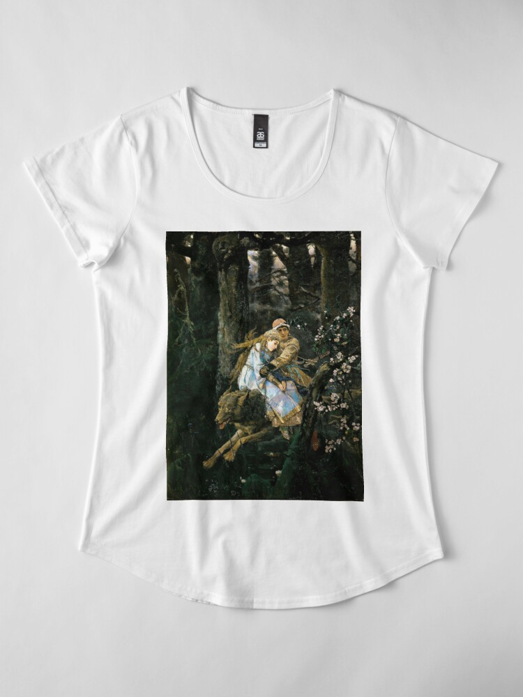 Alternate view of Ivan tsarevich riding the grey wolf Premium Scoop T-Shirt