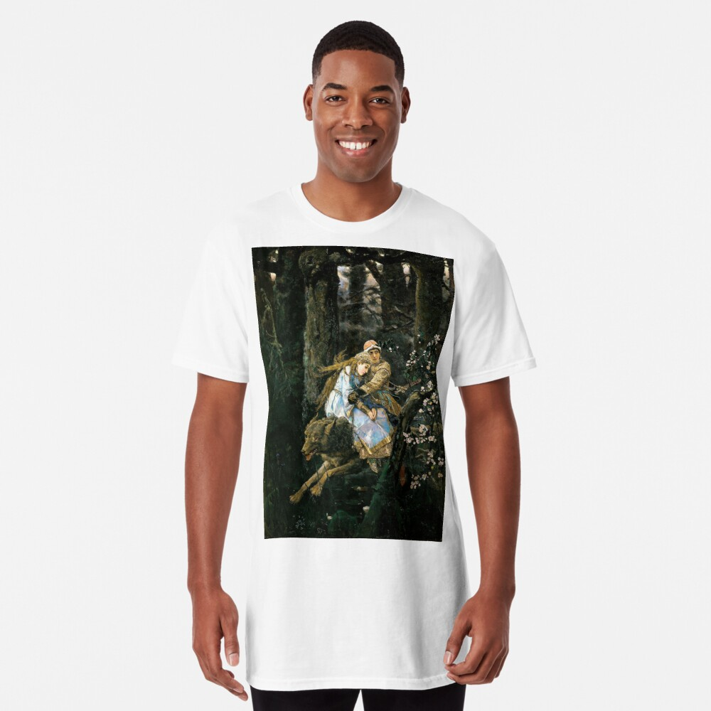 Ivan tsarevich riding the grey wolf Long T-Shirt