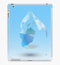 Global Drop Of Water Background iPad Case/Skin