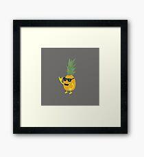 Heavy Metal Pineapple Framed Print
