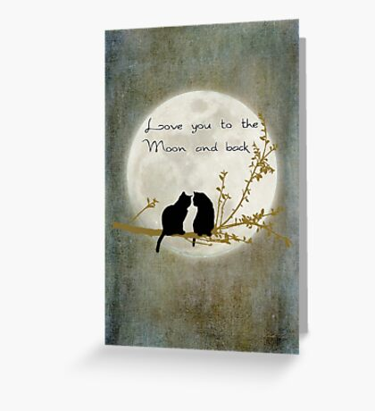 Love you to the moon and back (rectangle) Greeting Card