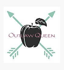 Outlaw Queen- Arrows and Apples Photographic Print