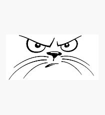 Angry Cat-Face Photographic Print