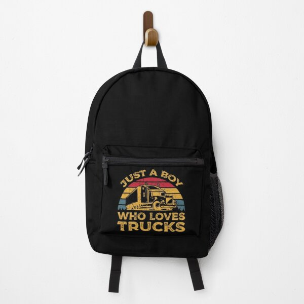 Just A Boy Who Loves Trucks Backpack
