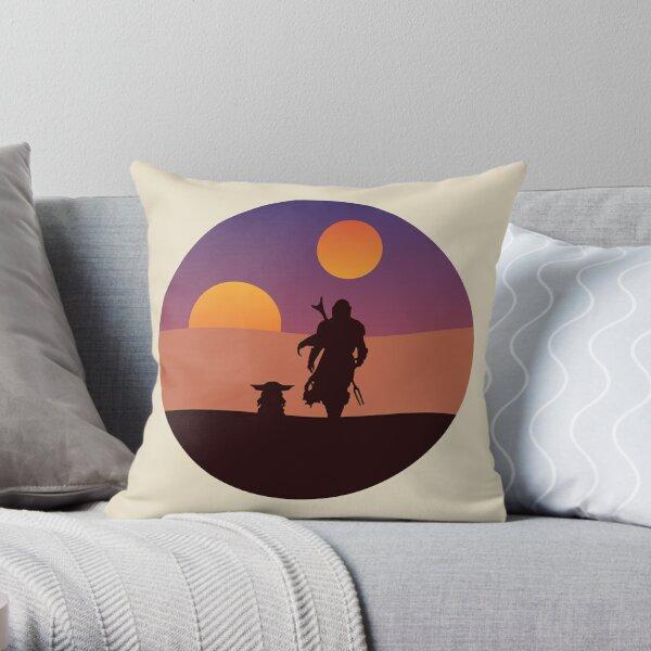 Tatooine silhouettes Throw Pillow