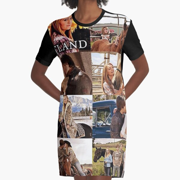 Heartland Collage Graphic T-Shirt Dress