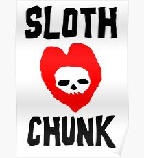 Faultier Love Chunk Poster