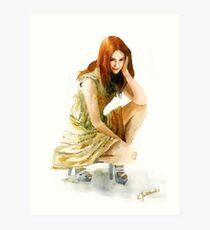 Karen Gillan Art Print