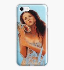 Girl and the shell iPhone Case/Skin