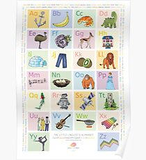 The Little Linguist's Alphabet (English, Italian, German, French, Dutch, Portuguese) Poster