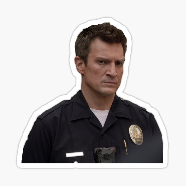 Nathan Fillion as The Rookie Sticker