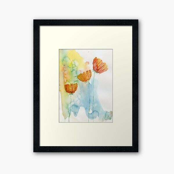 Daisies #12 – Daily painting #743 Framed Art Print