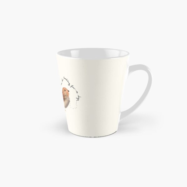 """Sparrow Watercolor Painting: """"I put my thoughts in the laundry, but now I'm looking for a dryer...."""" by Meia Geddes Tall Mug"""
