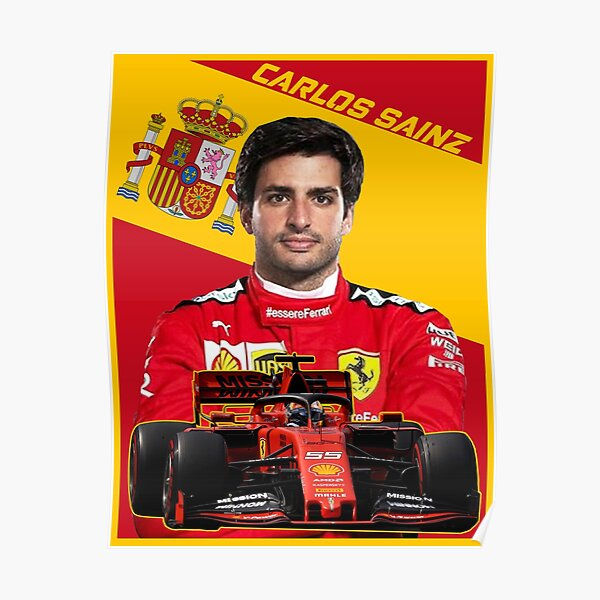 Carlos Sainz Ferrari Póster
