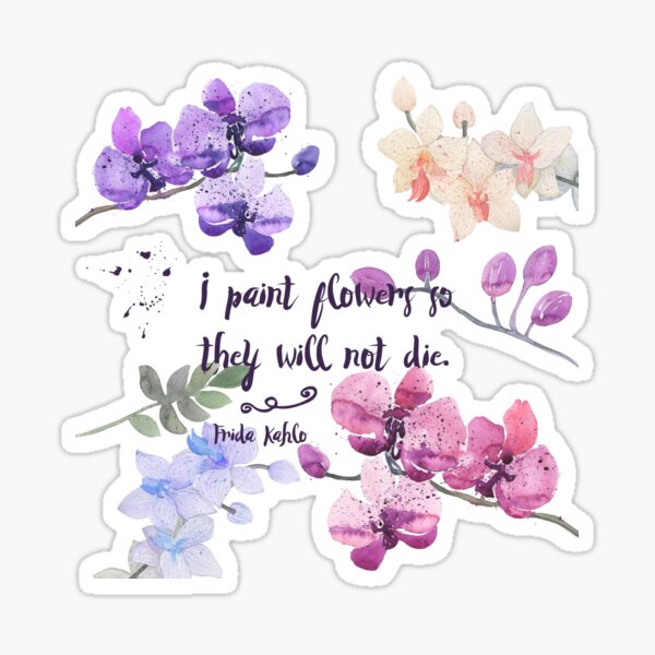 Paint Flowers Sticker