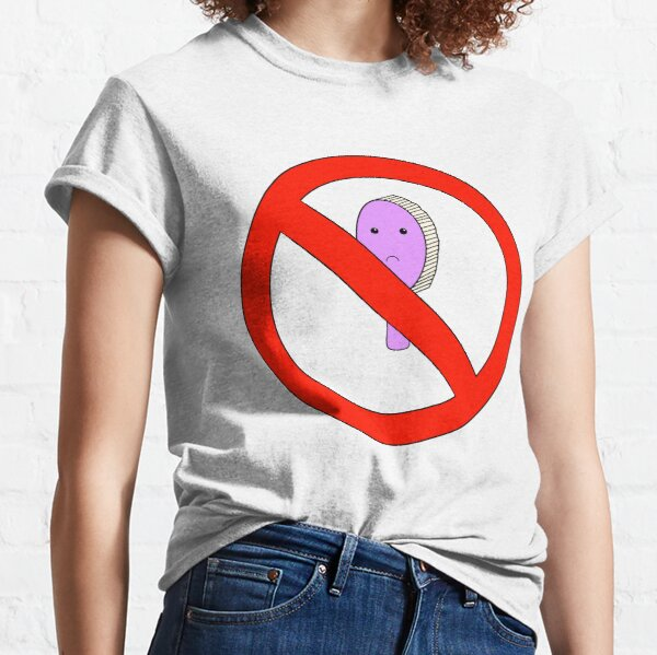 No Hair Brush Allowed! - White Version Classic T-Shirt