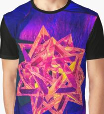 Star red and blure side Graphic T-Shirt