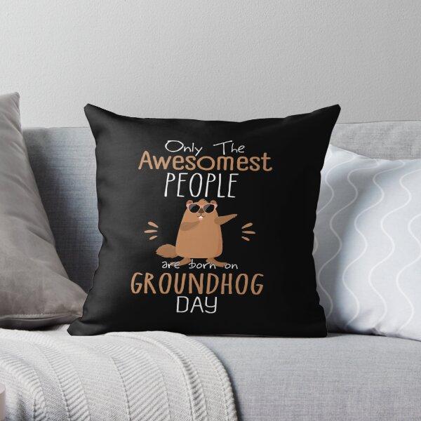 Groundhog Day Birthday 2021 Groundhog Lovers Gift Throw Pillow