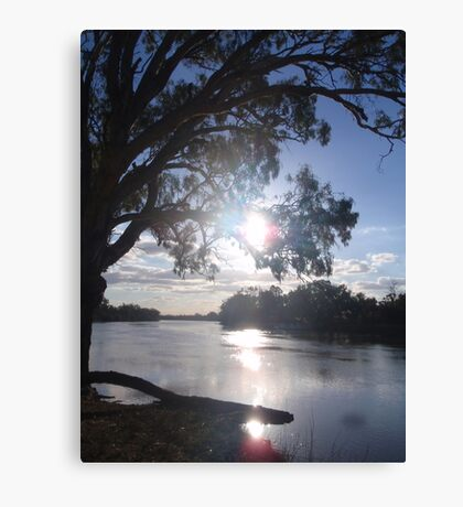 Sunset on the Murray (in Australia) Canvas Print