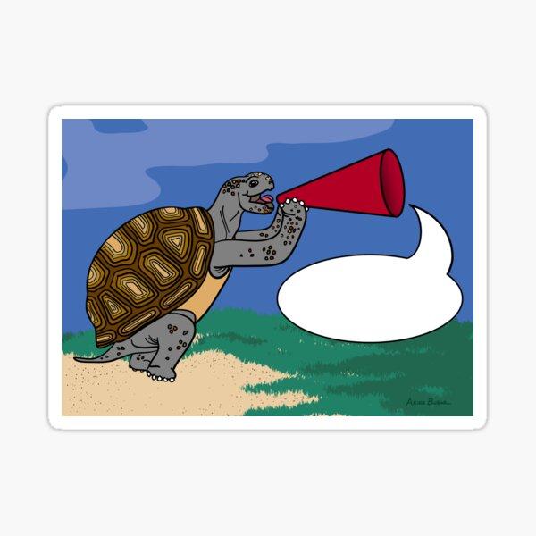 Tortoise has Something to Say! Sticker