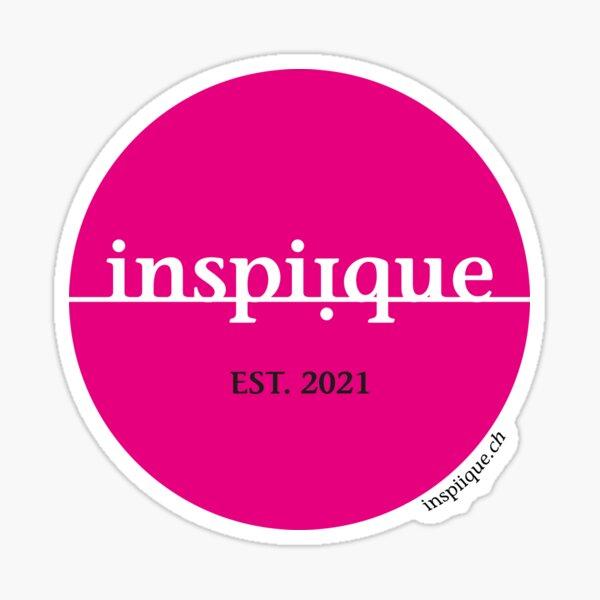 inspiique - your inspiration boutique (Logo pink) Sticker