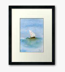 Boat at sea #4 – Daily painting #761 Framed Print