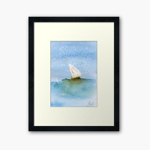 Boat at sea #4 – Daily painting #761 Framed Art Print