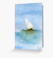 Boat at sea #4 – Daily painting #761 Greeting Card