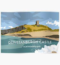 Dunstanburgh Castle - Railway Art Style  Poster