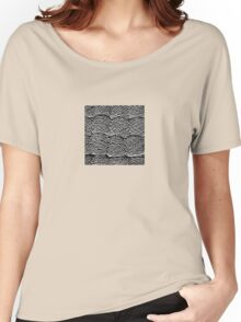 Black and White Abstract Digital Skeins of Yarn Design Women's Relaxed Fit T-Shirt