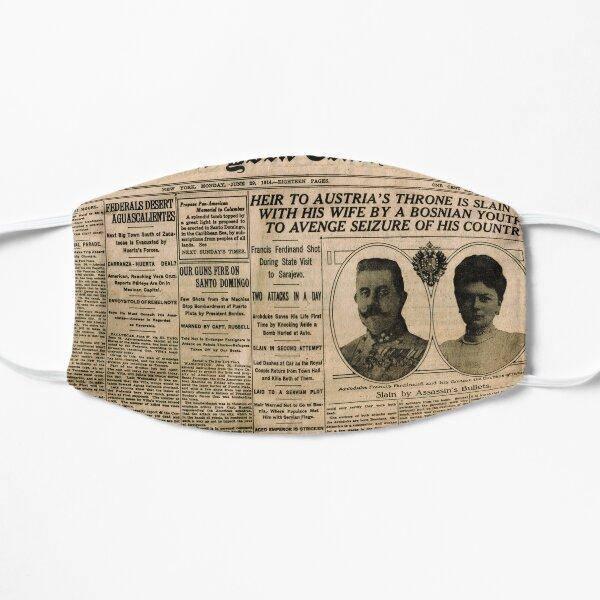 Newspaper article on the assassination of Archduke Franz Ferdinand. Old Newspaper, 28th June 1914, #OldNewspaper #Newspaper Flat Mask