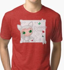 Cute funny kitten vector illustration Tri-blend T-Shirt