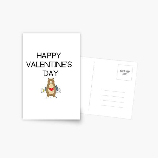 Bear Valentine's Day Postcard