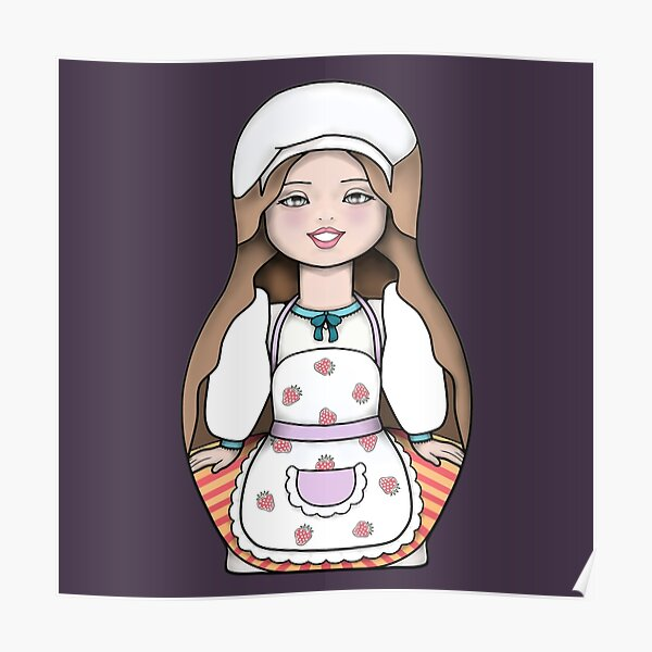 Pastry Chef Nesting Doll Poster