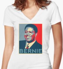 Vote Bernie (Spoof) Women's Fitted V-Neck T-Shirt