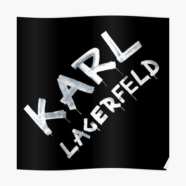 Karl Lagerfeld graff (Fond noir) - édition 2021 Poster