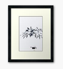 Fireworks Sumi-e Framed Print