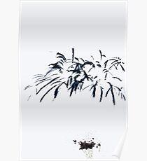 Fireworks Sumi-e Poster