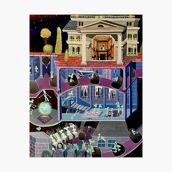Haunted mansion inspired  Photographic Print