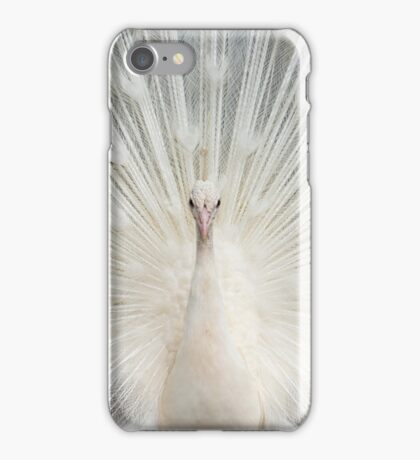 Albino Peacock iPhone Case/Skin