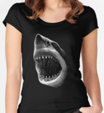 Great White Shark T-shirt Women's Fitted Scoop T-Shirt