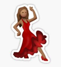 Emoji Dancer (Brunette) Sticker